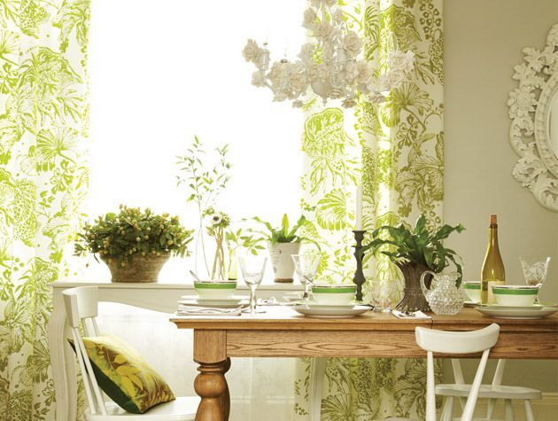 Nature inspired spring green dining room 2