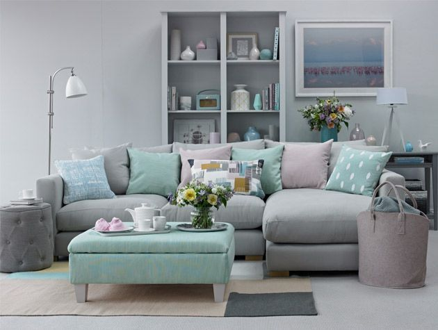 Soothing pastel living room scheme 1