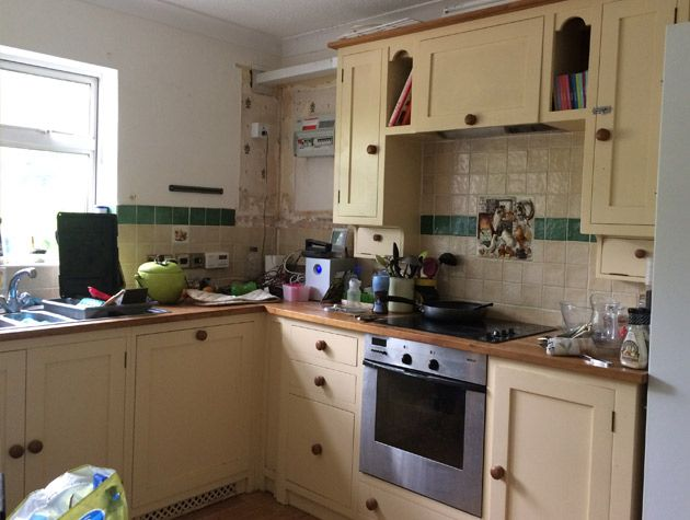 Before and after open plan kitchen diner extension 5