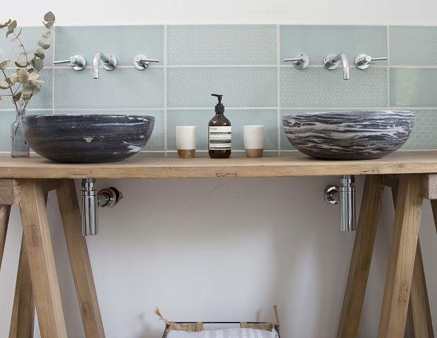 bathroom sink upcycle console table ideas