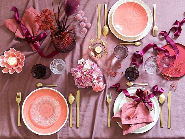 Maisons du Monde Christmas table decoration with pink and gold homeware accessories - Q&A with Anne Laure Couplet from Maisons du Monde - Living Room - goodhomesmagazine.com
