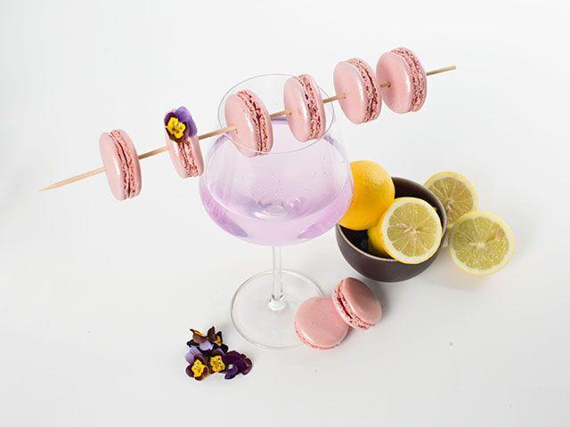 not pink drink cocktail with lemon, gin, elderflower liquer by google pixel 3 - cocktail recipe - kitchen - goodhomesmagazine.com