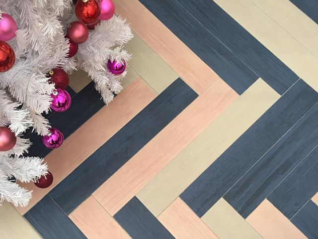 walls and floors colourful chevron plank flooring in Good Homes roomsets - roomsets - top shopping picks - goodhomesmagazine.com