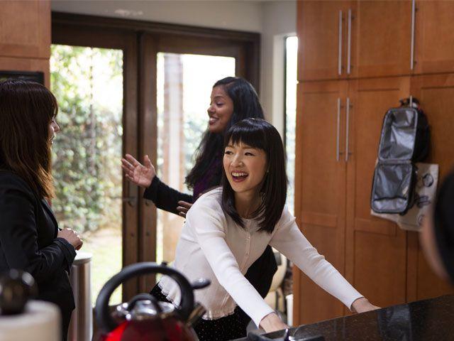 Marie Kondo from Tidying Up with Marie Kondo netflix-living-room-goodhomesmagazine.com