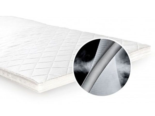 illustration of a white mattress Air O Bed topper -unikbed-bedrooms-goodhomesmagazine.com