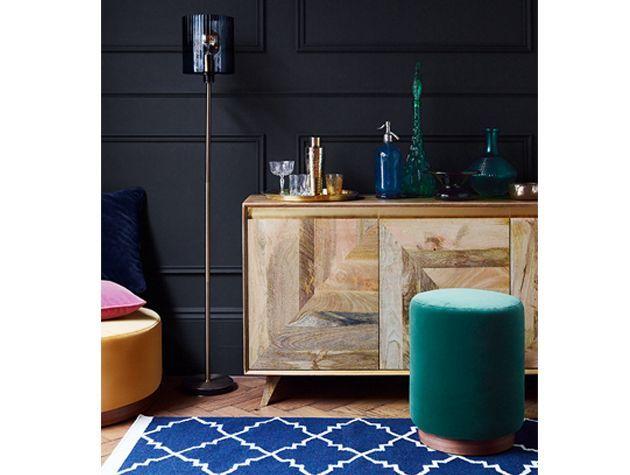 Karlsson Sideboard Penfold stool ottoman Castor floor lamp soho rug swoon goodhomes