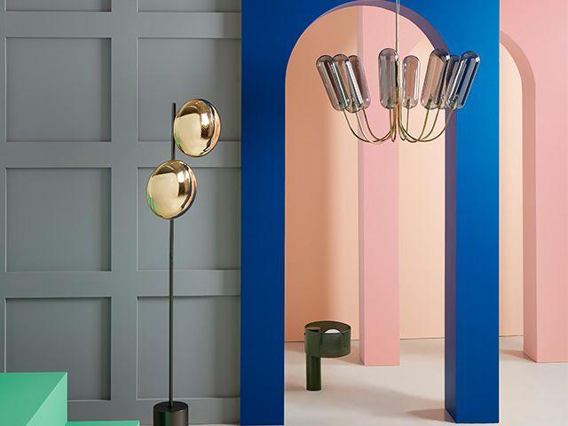 lighting shot in studio colourpops and architecture