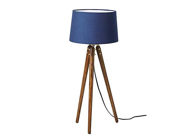 Charon navy table lamp top picks - swoon home accessories collection available in Harvey Nichols - goodhomesmagazine.com