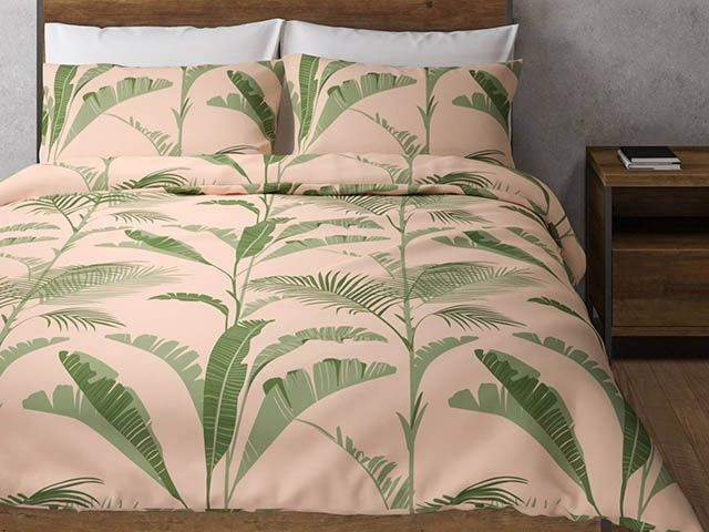 sell out Marks and Spencer palm print bedding green dusky pink.jpg