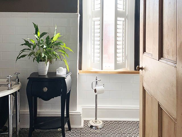 bathroom furniture and shutters - before and after victorian bathroom renovation - goodhomesmagazine.com