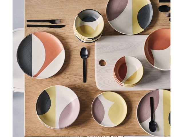 Clara dinnerware set on a dining table from habitat.co.uk