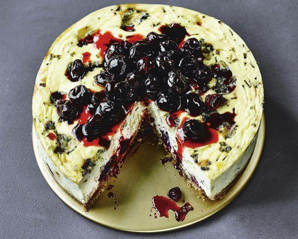 Gluten-free cranberry and stilton savoury cheesecake - Credit: M&S