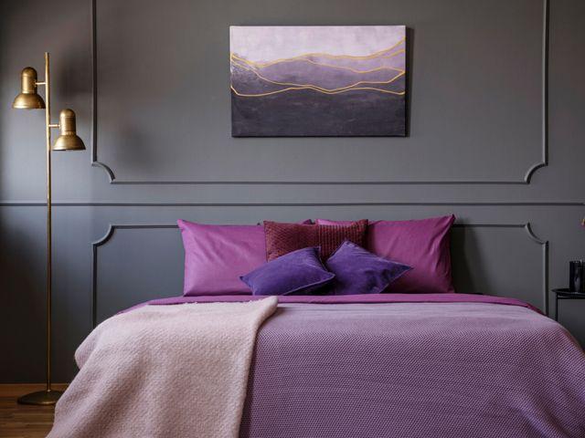 Purple bedroom - Credit: Quickslide