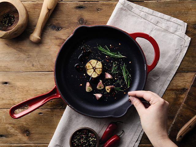 aldi cookware pan - Aldi's new cast iron cookware range starts from just £14.99 - kitchen - goodhomesmagazine.com