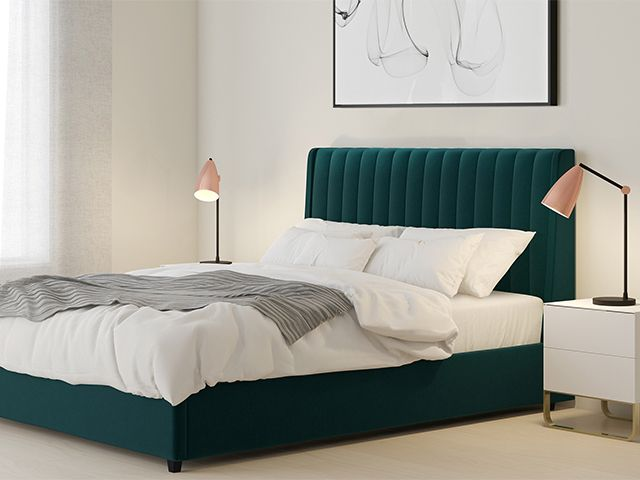 danetti velvet bed opener - take a look at these statement beds for less than £500 - shopping - goodhomesmagazine.com