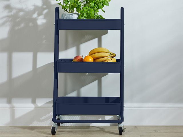 dunelm kitchen trolley - how to get a kitchen island look for less - kitchen - goodhomesmagazine.com