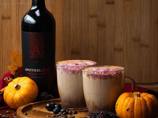 pumpkin wine latte - 6 pumpkin recipes to get you in the mood for halloween - kitchen - goodhomesmagazine.com