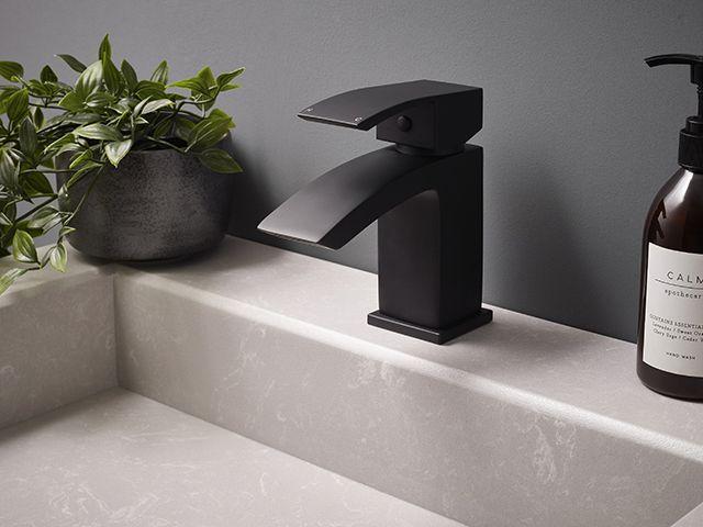Frontline bathrooms onyx contemporary black mixer tap - bathroom - goodhomesmagazine.com