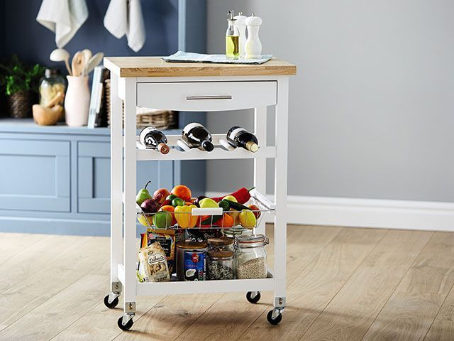 aldi trolley opener copy - Get a kitchen trolley for less than £50! - kitchen - goodhomesmagazine.com
