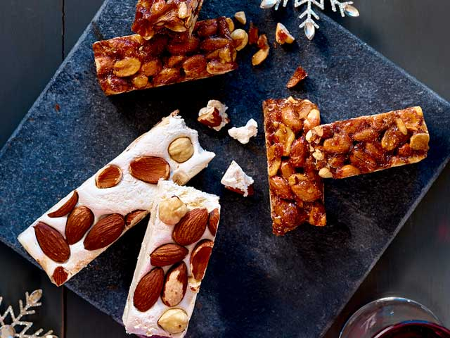 nougat and nut brittle from Asda's christmas food range 2019