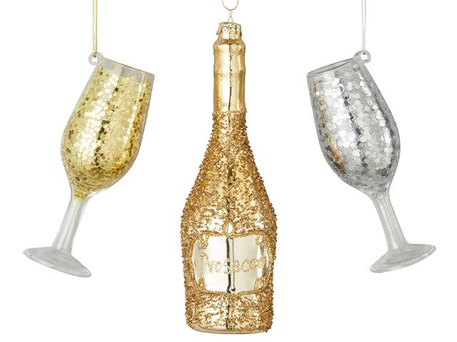 very prosecco bauble - our favourite quirky christmas baubles - shopping - goodhomesmagazine.com