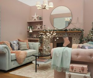 pastel living - colour trends from the ideal home show christmas roomsets - inspiration - goodhomesmagazine.com