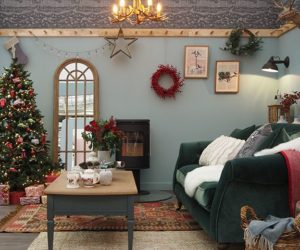 good homes roomsets at Ideal Home Show Xmas 2019 natural style country living room