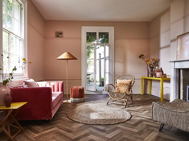 warm pink and terracotta living room - goodhomesmagazine.com - trends of 2021