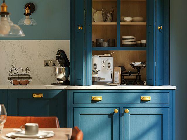 loch anna kitchens durham in sapphire blue - goodhomesmagazine.com