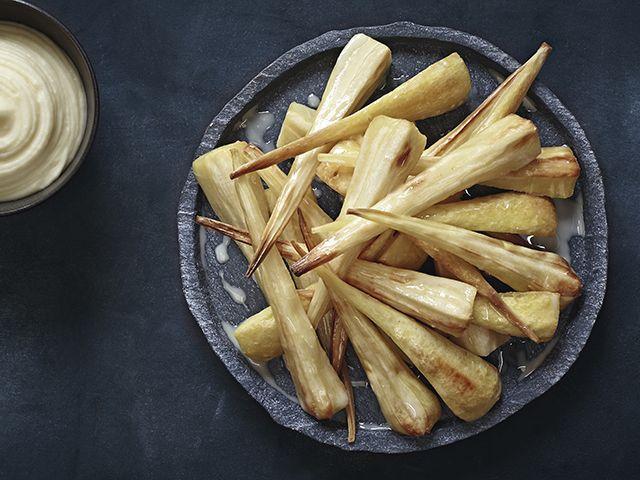 roast parsnips in a white balsamic glaze - kitchen - goodhomesmagazine.com
