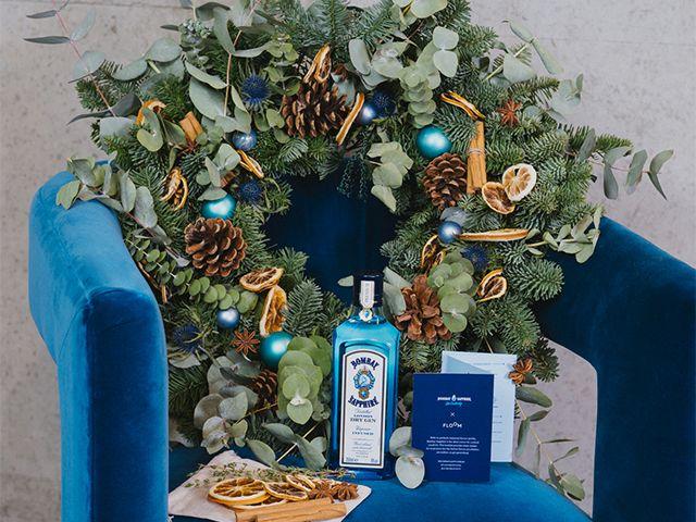 bombay wreath - Bombay Sapphire has released a Christmas gin wreath - news - goodhomesmagazine.com