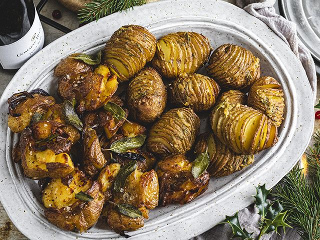 smashed potatoes and hasselback for christmas dinner recipes - kitchen - goodhomesmagazine.com