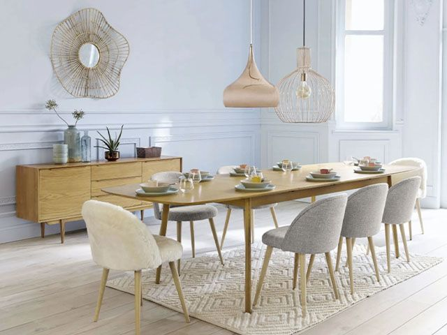 faux fur dining chair - 7 of the most on-trend dining chairs - dining - goodhomesmagazine.com