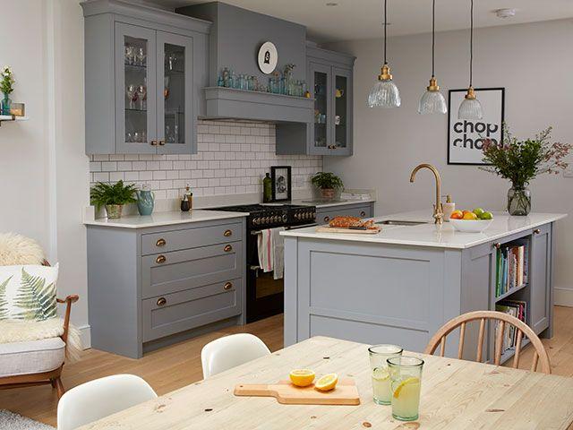 grey shaker style kitchen - good homes 2018 - goodhomesmagazine.com