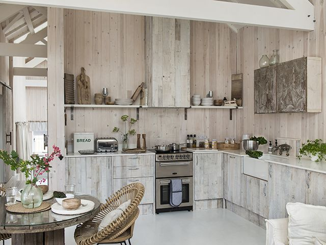 rustic country style cabin kitchen house tour - goodhomesmagazine.com