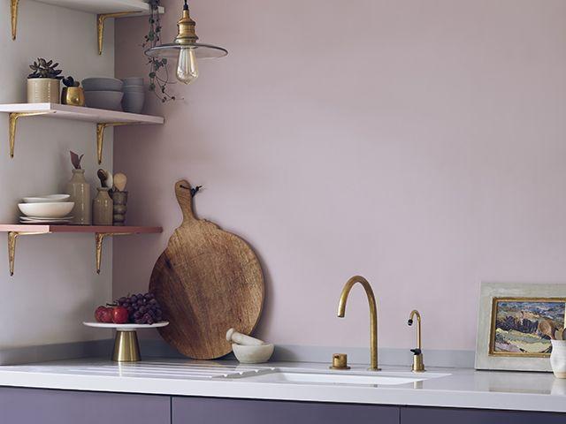 lilac and purple kitchen cabinets - inspiration - goodhomesmagazine.com
