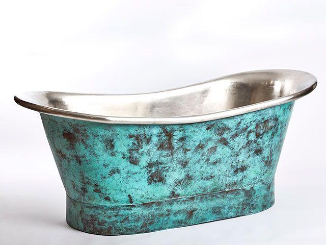 Indigenous Oxidised Copper Bath - goodhomesmagazine.com