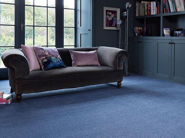 firework blue carpet in living room - goodhomesmagazine.com