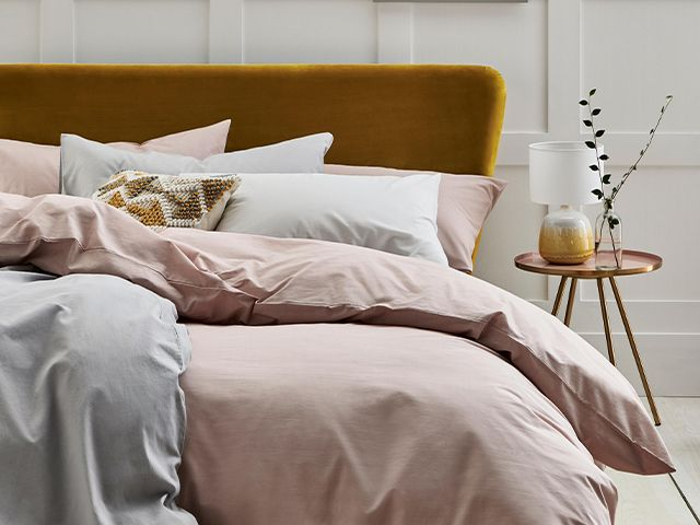 pink and mustard bedroom - dr dawn's top tips on creating a mindful home - inspiration - goodhomesmagazine.com