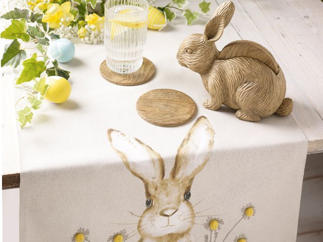 easter rabbit table runner - 6 easter decorating ideas for your home - inspiration - goodhomesmagazine.com