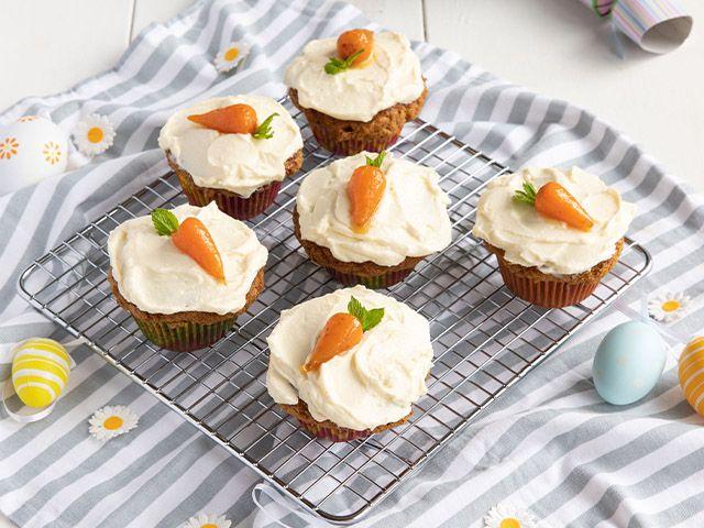 mini carrot cake recipe - easter bakes: 4 easy recipes - kitchen - goodhomesmagazine.com