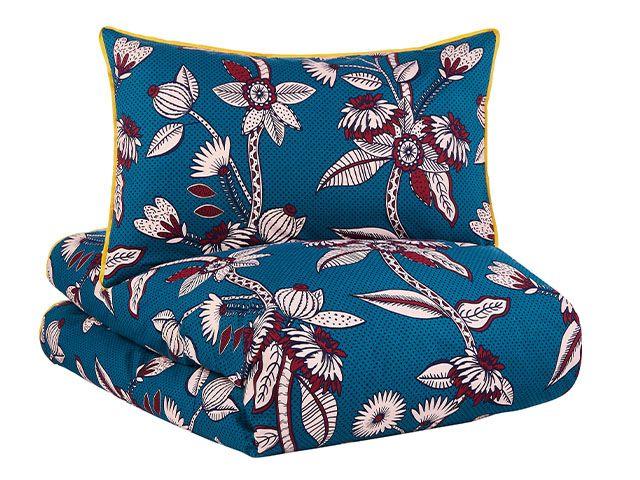 navy floral duvet set - spring duvet sets: 5 of our favourites - bedroom - goodhomesmagazine.com