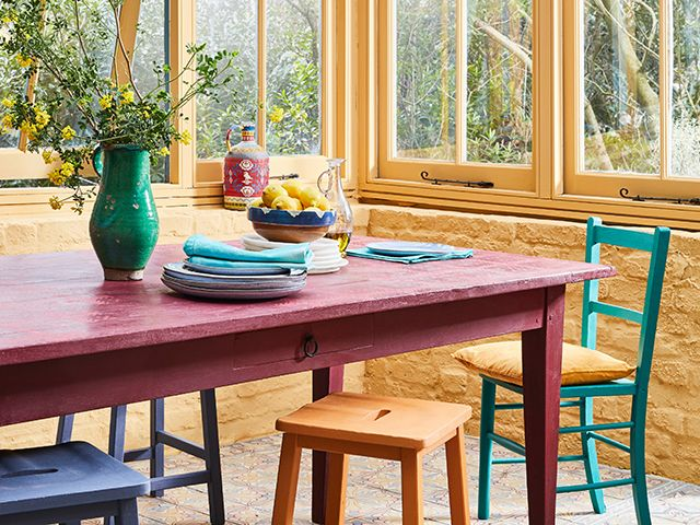 bright colourful painted dining room - competition - goodhomesmagazine.com