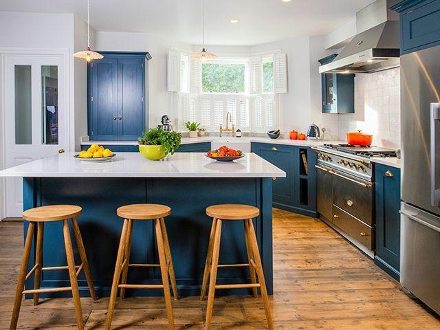 cosentino blue kitchen