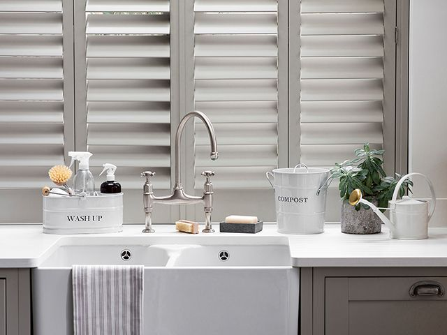 grey kitchen utility area - easy cleaning jobs you can do during lockdown - inspiration - goodhomesmagazine.com