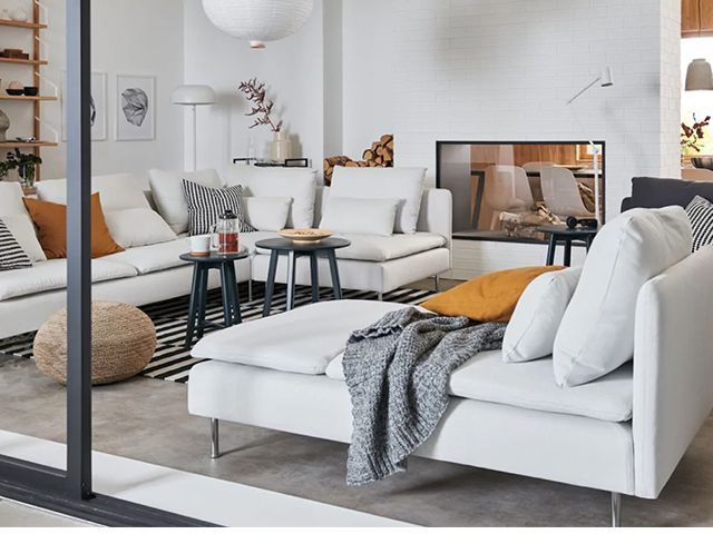 ikea extension with two corner sofas - 9 virtual interiors experts you can consult during lockdown - inspiration - goodhomesmagazine.com