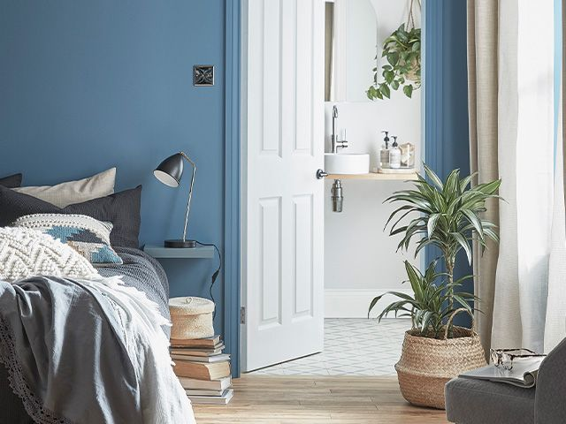 mid blue painted bedroom - where to buy paint online during lockdown? - shopping - goodhomesmagazine.com
