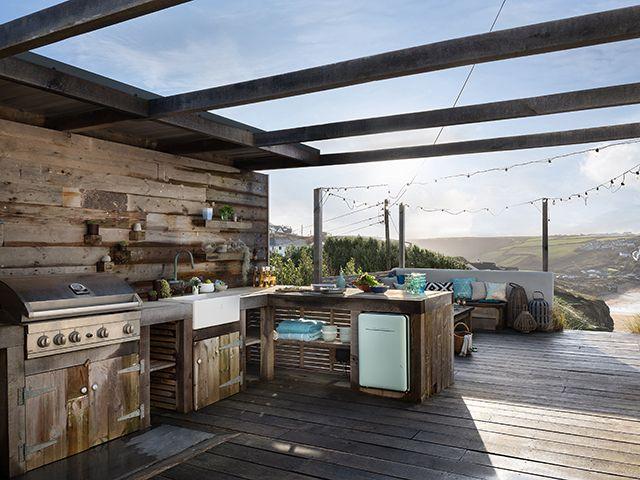 unique home stays katie weaving outdoor kitchen - garden - goodhomesmagazine.com