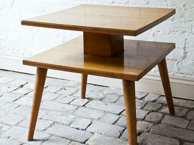 wooden side table - how to update a Mid-Century side table - inspiration - goodhomesmagazine.com