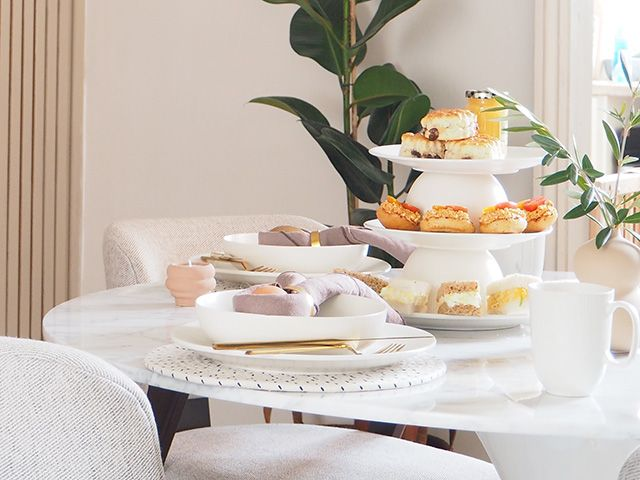 diy afternoon tea serving stand by luke arthur wells - dining room - goodhomesmagazine.com